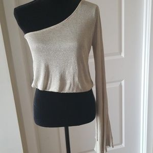 One Shoulder long sleeves top by Arden B sz Xs
